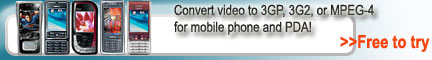 3GP Converter, Convert AVI to 3GP, 3G2, or MP4
